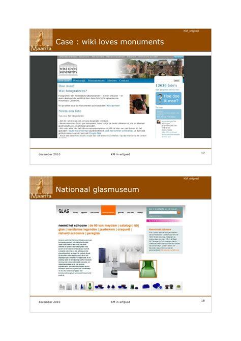i keuze wikispaces kennismanagement binnen lokale erfgoedorganisaites