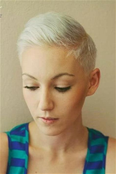 ultrashort pixie haircuts ultra short women s crop with clipper cut sides slight