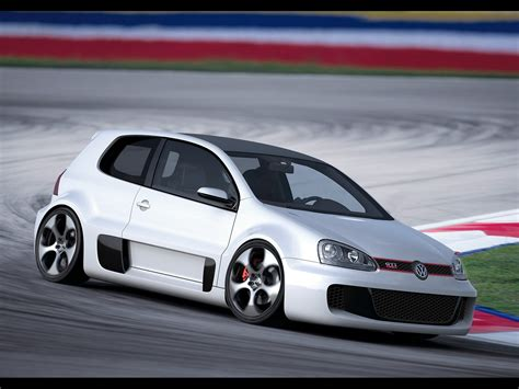 Volkswagen Gti W12 by 2007 Volkswagen Gti W12 Concept Front And Passenger Side