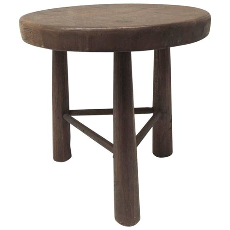 A Three Legged Stool by Vintage Wood Tripod Three Legged Stool At 1stdibs