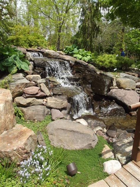 backyard waterfall would like a waterfall in my backyard outdoors pinterest