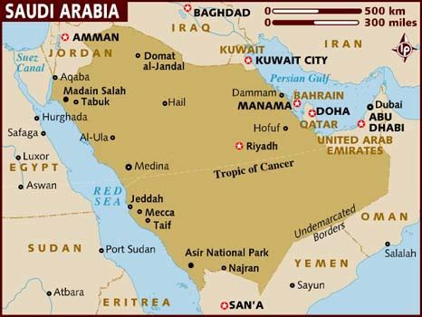 middle east map jeddah map of saudi arabia