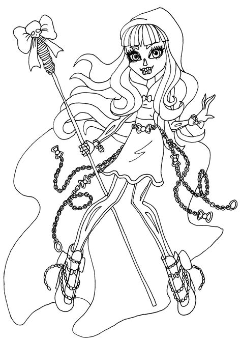 monster high gooliope coloring pages 13 monster high coloring pages printable print color craft