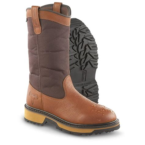 s pull on boots s truetimber 174 13 quot waterproof pull on boots brown