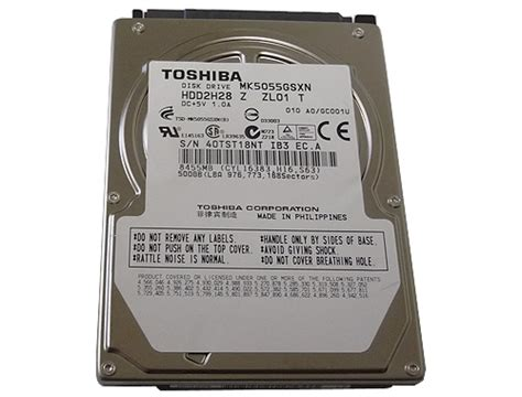 Promo Hardisk Notebook 500gb Toshiba goharddrive toshiba 500gb mk5055gsx 5400rpm sata2 8mb cache 2 5 quot notebook drive