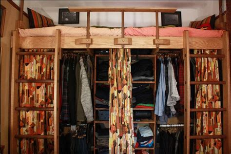 closet under bed cool idea for a closet underneath a loft bed get 25