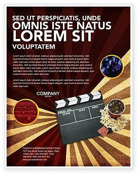 films and cinema flyer template background in microsoft