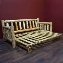 cedar lake cabin easy glide log futon by woodland creek s