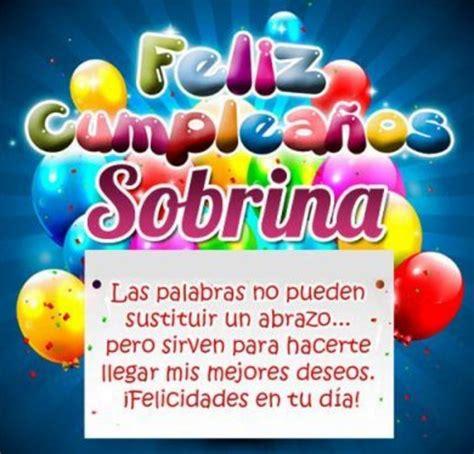 imagenes happy birthday sobrina mensajes de feliz cumplea 241 os sobrina hermosa te quiero