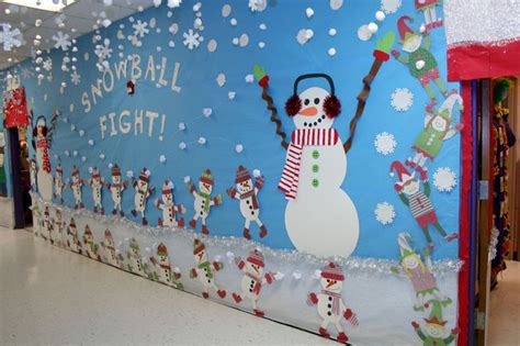 how to make school hall christmas snowball fight way decoration classroom crafts way snowball fight and