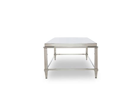 modrest agar modern glass stainless steel coffee table