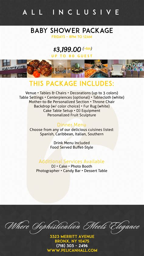 Baby Shower Packages by Pelican Ville