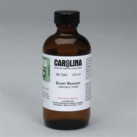 schiff reagent schiff s reagent laboratory grade 100 ml carolina