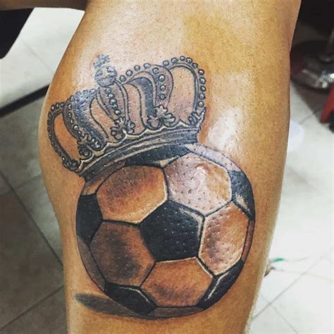 soccer ball tattoos 27 crown tattoos you feel like and