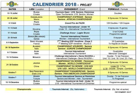 Calendrier 2018 6 Nations Calendrier 2018 F 233 D 233 Ration Internationale De Boules