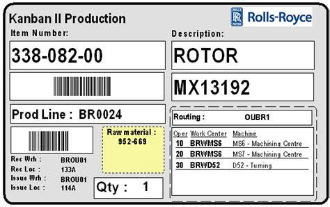 printable kanban cards baan erp requirement for kanban production printing baan