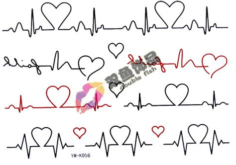 tattoo heartbeat font love tattoo promotion online shopping for promotional love