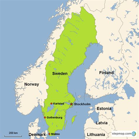 swedish country map of sweden with cities pictures to pin on pinterest