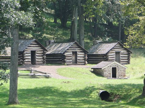 Cabins In National Park by File Valley Forge National Historical Park Log Cabins Jpg
