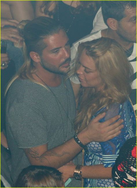 Lohan Is For Business by Lindsay Lohan Kisses Business Partner Dennis Papageorgiou
