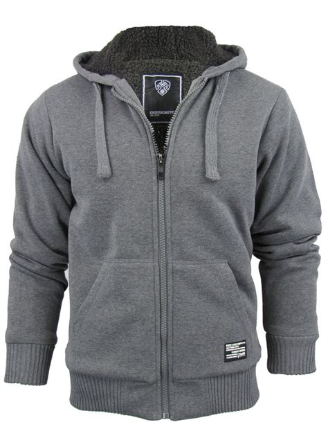 Jaket Jumper Grey Hoodie Premium Fleece For mens dissident hoodie sweatshirt jumper jacket toulouse sherpa fleece lined ebay