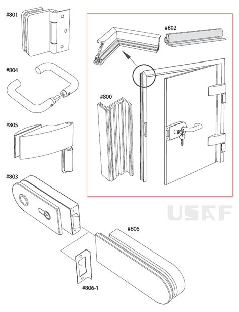 Glass Shower Door Parts Glass Shower Door Parts