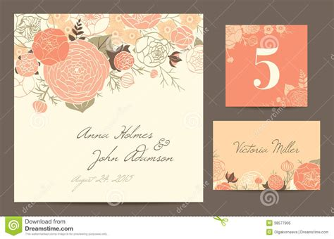graphicriver modern wedding invitation cards template vector set polygraphy to celebrate the wedding stock vector
