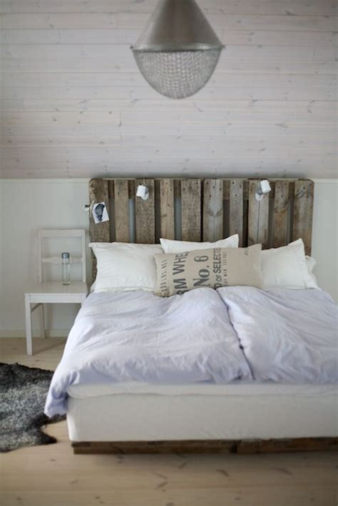 Pallet Headboard For Bed 27 diy pallet headboard ideas 101 pallets