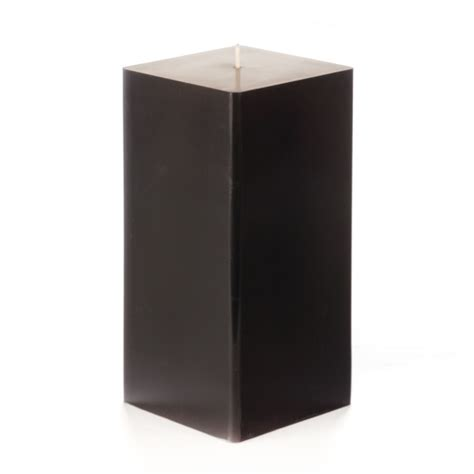 Square Candles 3x3x6 Black Square Pillar Candle