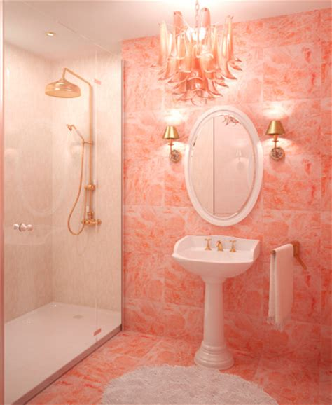 peach bathroom ideas the color orange works best in small amounts matt and shari