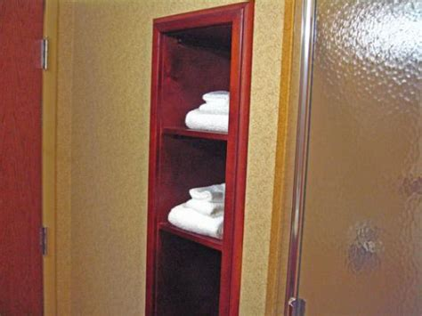 towel cabinet in bathroom picture of hton inn