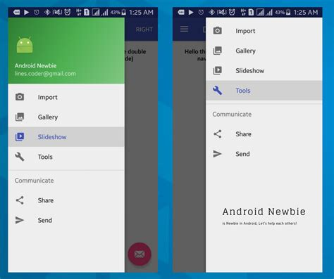 layout left android tutorial double navigation drawer android left and right