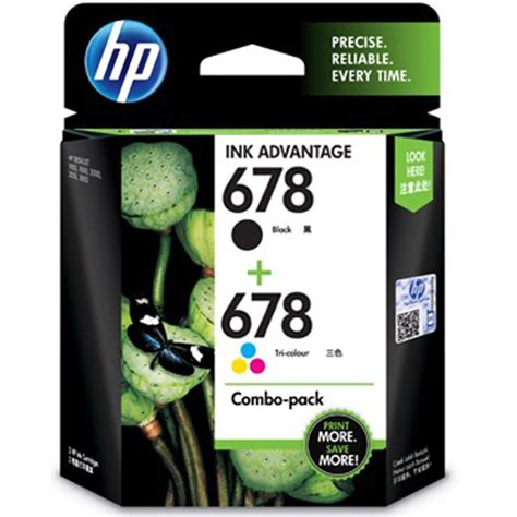 Cartridge Hp 678 Black hp 678 black and tricolor ink combo pack buy hp 678