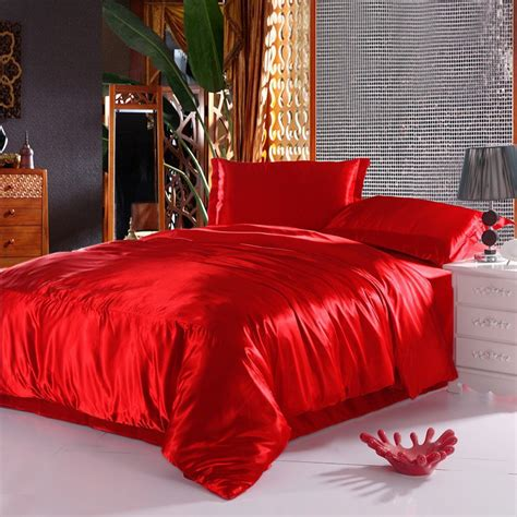 Chinese Silk Duvet Covers Red Comforter Sets Queen Silk Cheap Luxury Bedding Sets