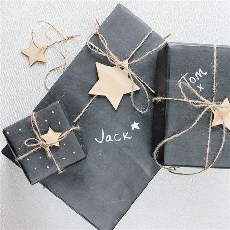 wrap gifts chalkboard gift wrap by newton and the apple notonthehighstreet com