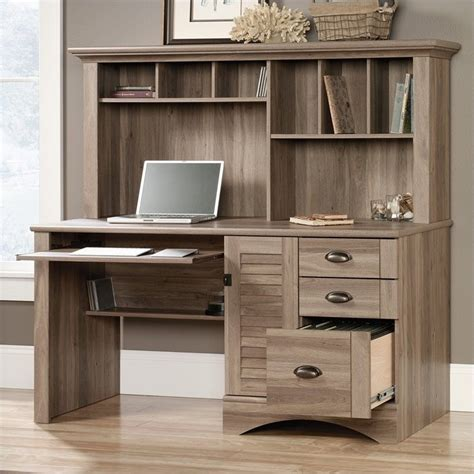 Oak Desks With Hutch Computer Desk With Hutch In Salt Oak 415109