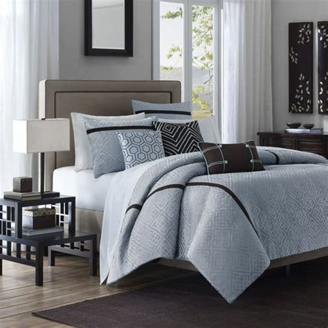 brown and light blue bedroom brown light blue bed set from bed bath beyond decor