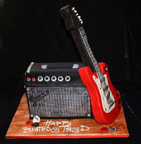 fender guitar cake template choice image templates