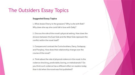 Essay Topics For The Outsiders by Outsider Essay