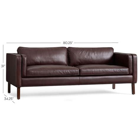 sofa austin austin leather sofa pottery barn