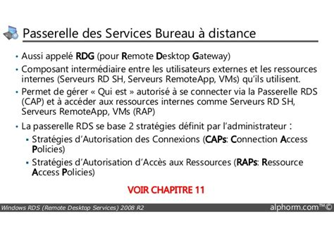 passerelle bureau à distance alphorm com formation rds windows server 2008 r2 guide