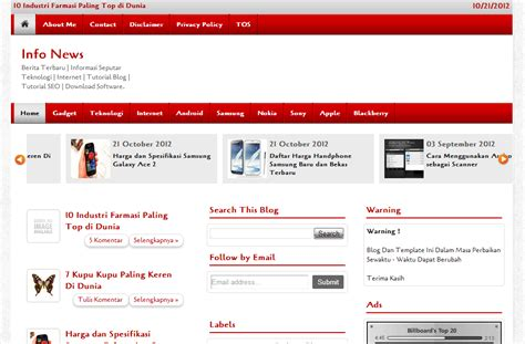 blogger templates for computer red magazine blogger template