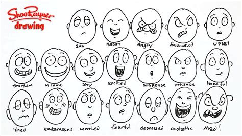 Drawing Your Feelings by How To Draw 20 Different Emotions