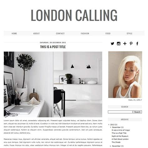 blogger themes white blogger template london calling shops london und minimal
