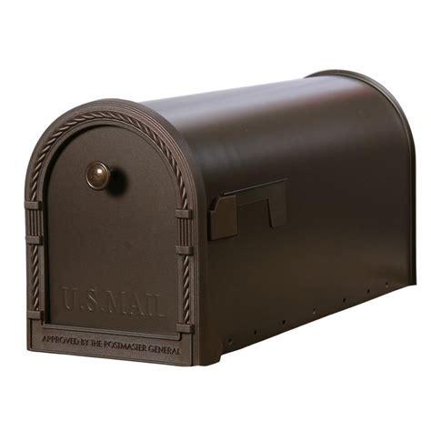 Gibraltar Mailboxes Designer Steel Post Mount Mailbox with Decorative Frame, Venetian Bronze