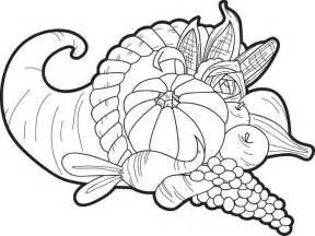 cornucopia coloring pages free printable cornucopia thanksgiving coloring page for
