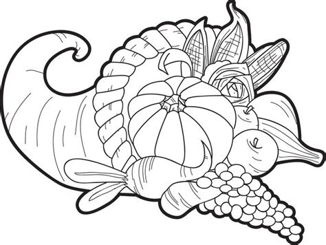 cornucopia basket coloring page free printable cornucopia thanksgiving coloring page for kids