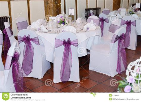 chair and table cover at wedding stock photo image 51188332