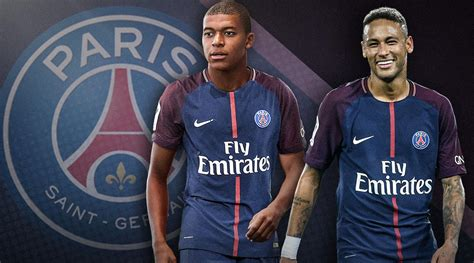 kylian mbappe and neymar psg with neymar kylian mbappe signed can club conquer
