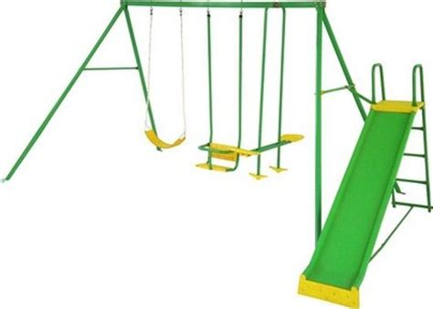 swing set big w action sports swing set with slide s000084 reviews